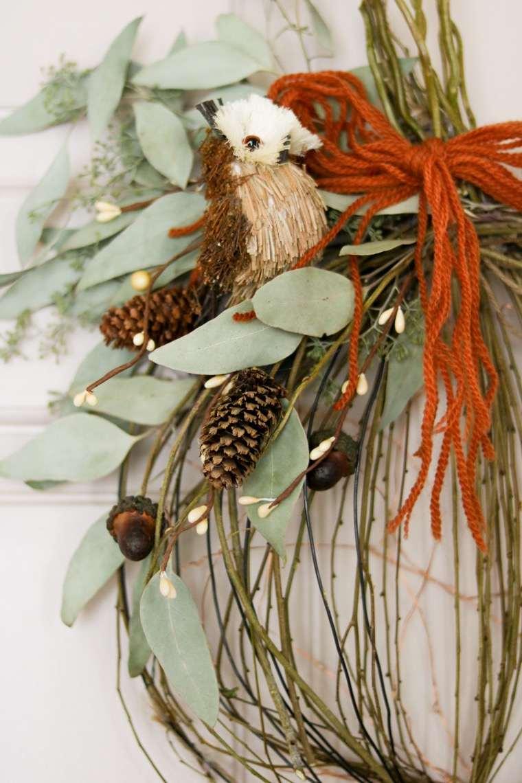 bricolage avec des branches darbres citrouille couronne