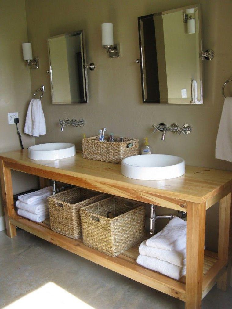 vanité bois salle de bain faire soi-même