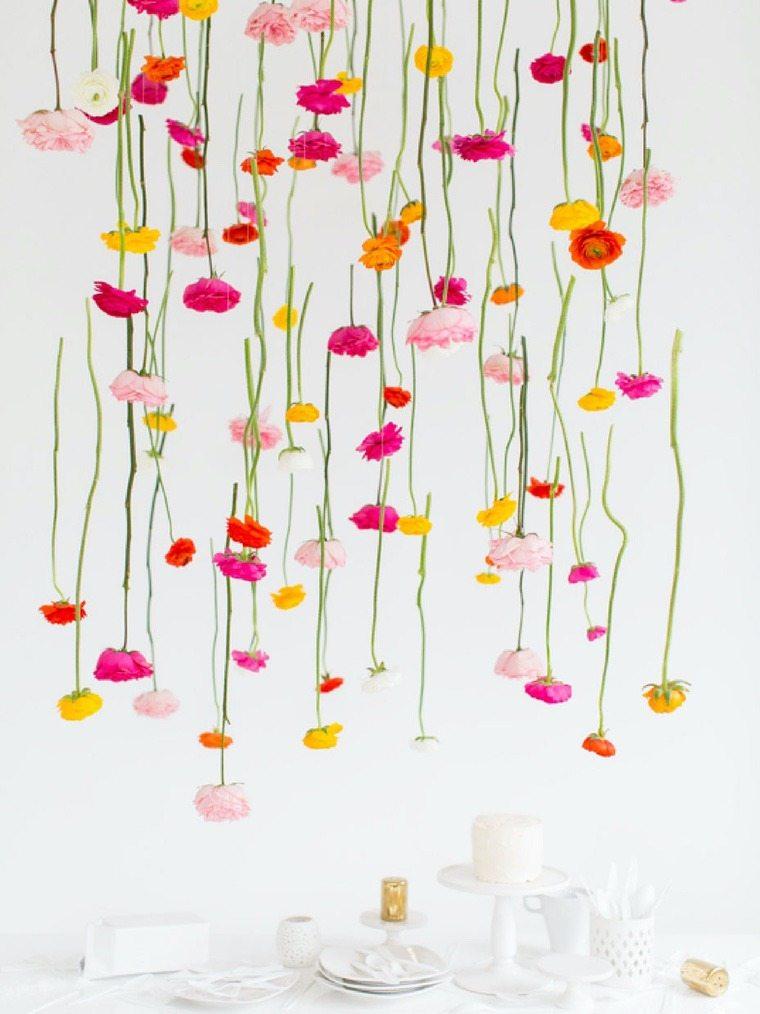 déco de printemps diy guirlande de fleurs magnifique