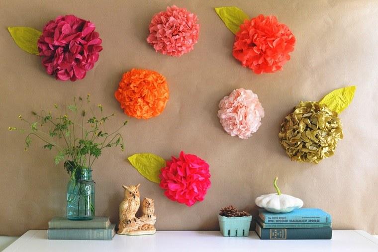 idée déco diy printemps mur fleurs