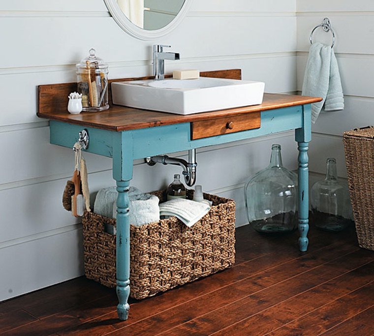 idée meuble salle de bain en bois faire soi-même