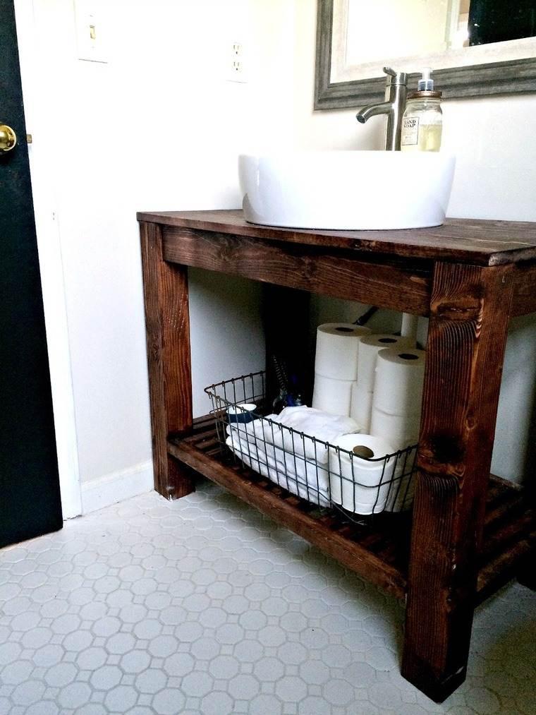 récup meuble en bois pour la salle de bain