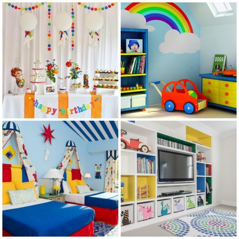 couleur primaire design intérieur chambre enfant agréable
