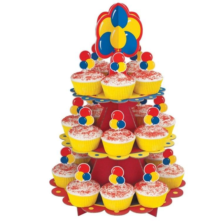 couleurs primaires gâteau cup cakes