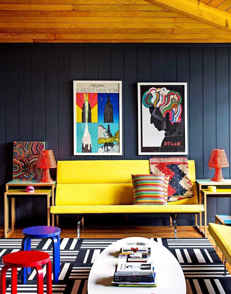 couleurs primaires intérieur salon design adulte
