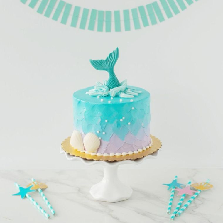 recette gateau anniversaire enfant sirene
