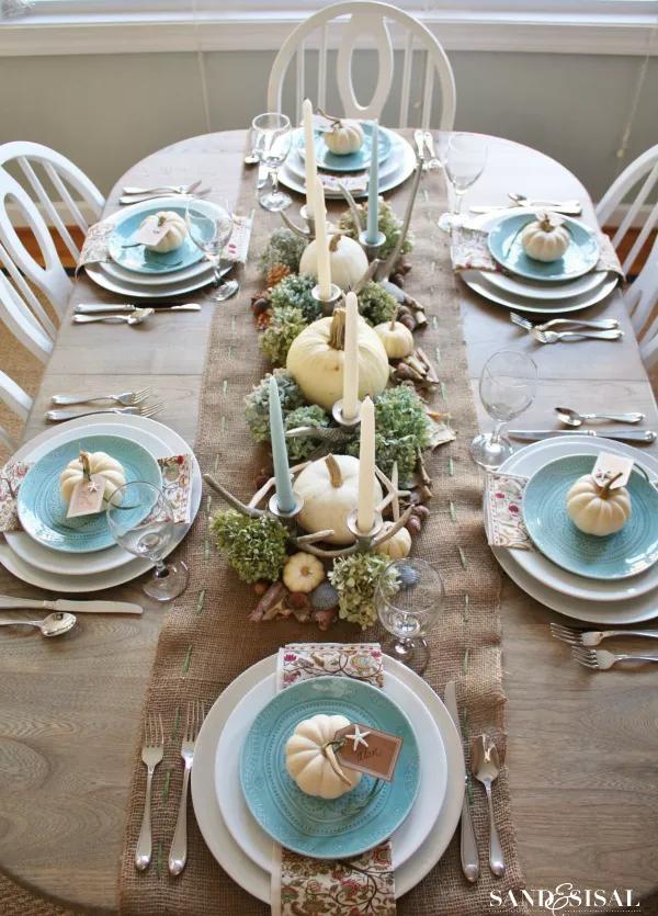 Table de Thanksgiving côtière