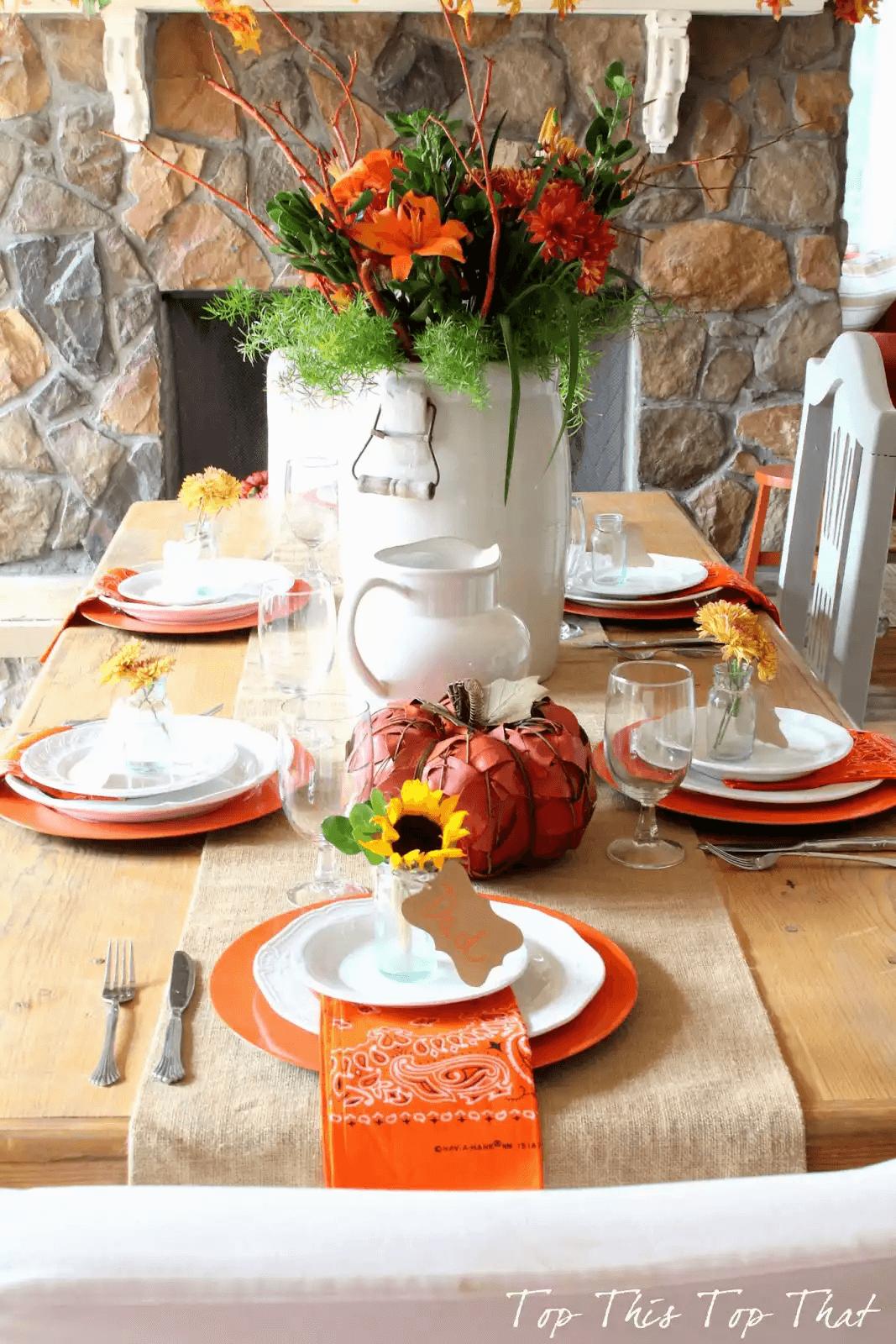 Table de Thanksgiving occasionnelle