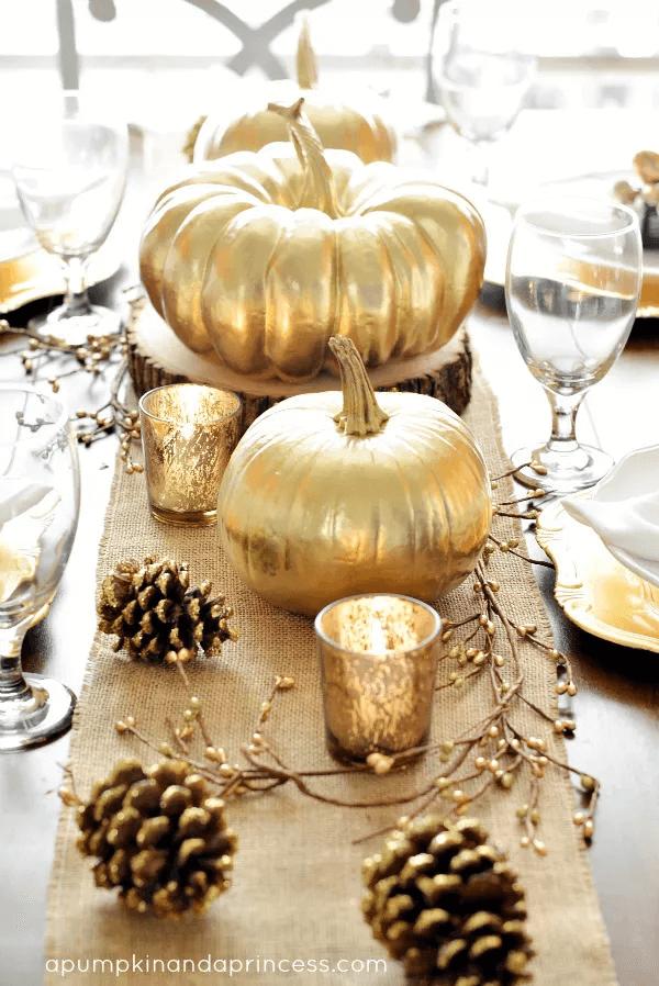 Table d'or de Thanksgiving