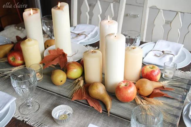 Une simple table de Thanksgiving