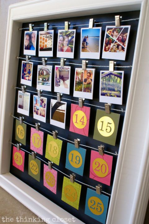 Calendrier de l'Avent avec photos personnalisées
