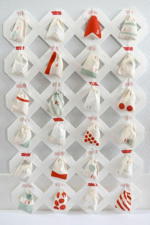 Calendrier de l'Avent des sacs en mousseline