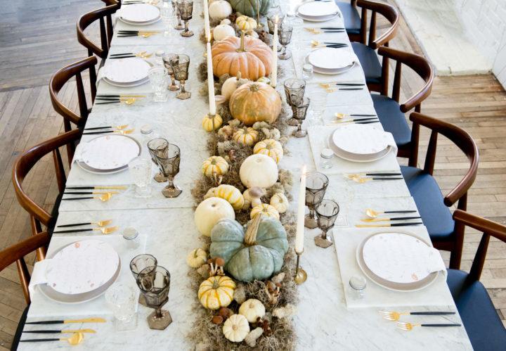 13 Jolies idées de décoration de table pour Thanksgiving