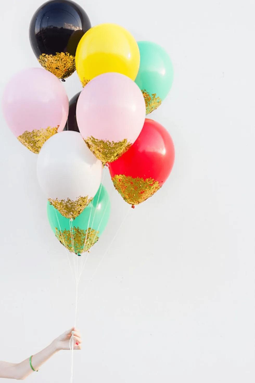 Bricolage de ballons de confettis