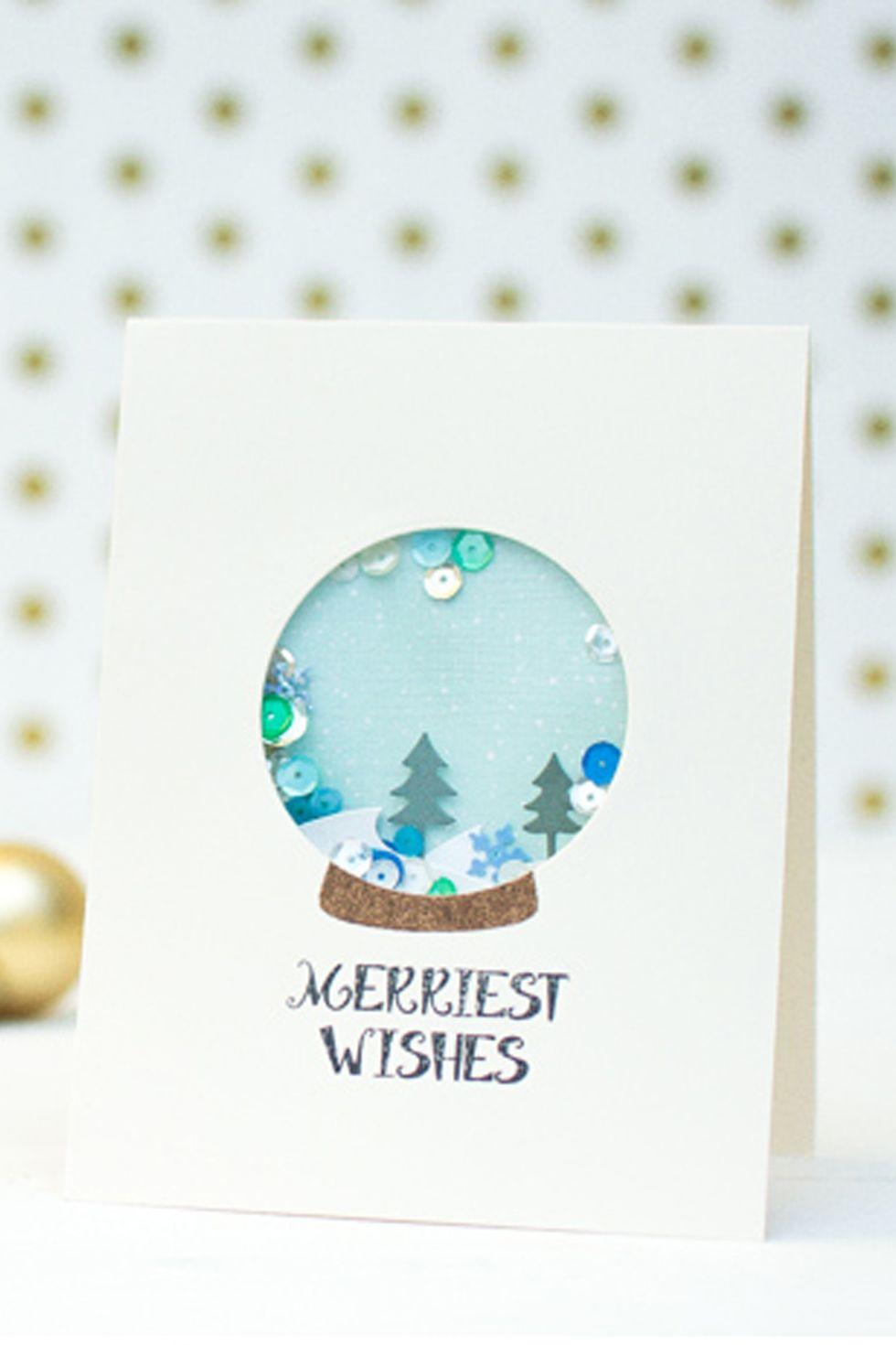 Carte Boule de neige Confetti
