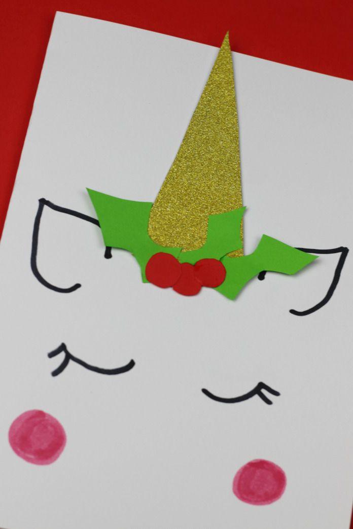Carte de Noël de la licorne