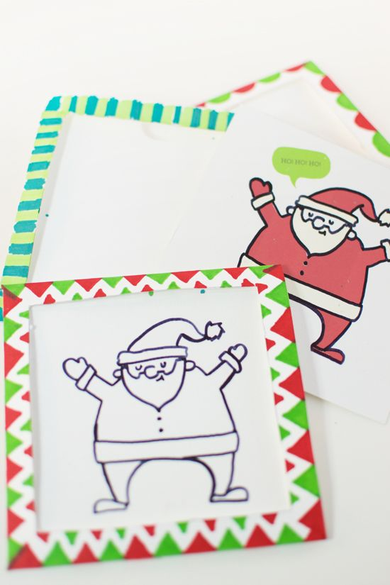 Carte de Père Noël magique