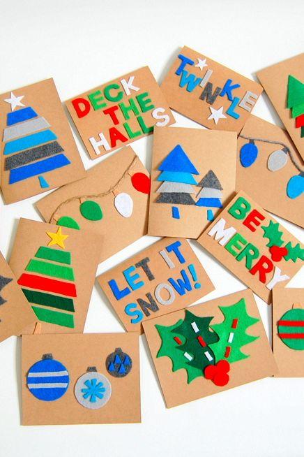 Carte de feutre festive