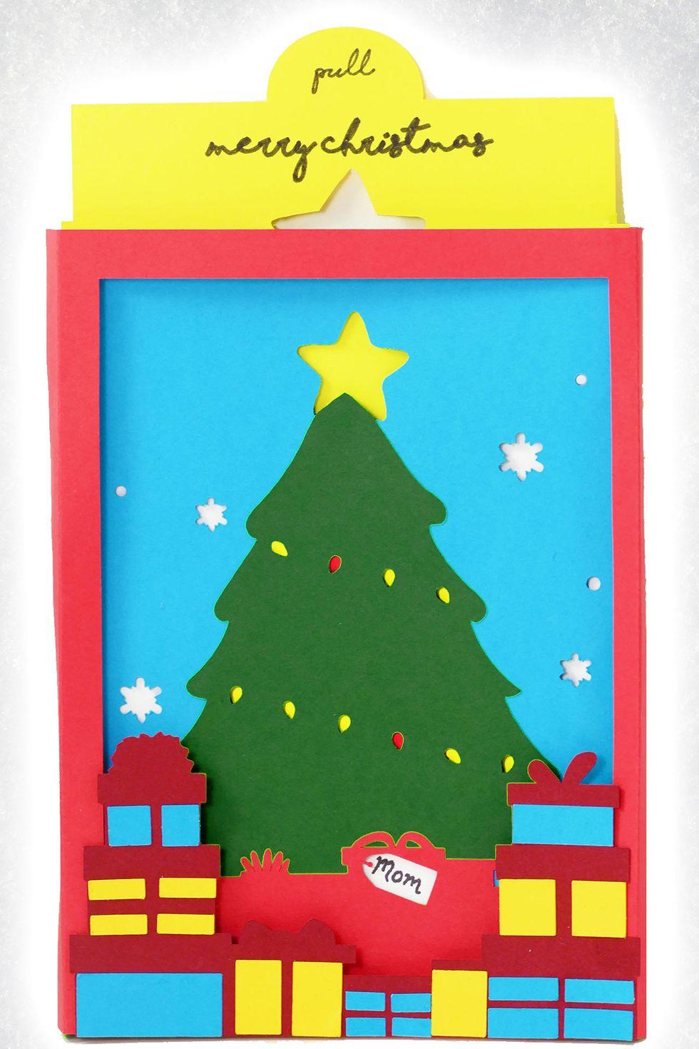 Carte de la boîte de l'ombre de l'arbre de Noël