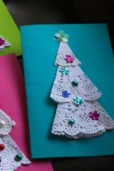 Cartes de Noël pour le napperon