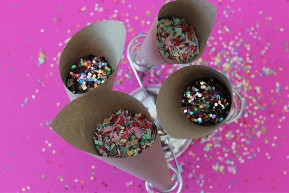 Cônes de confettis