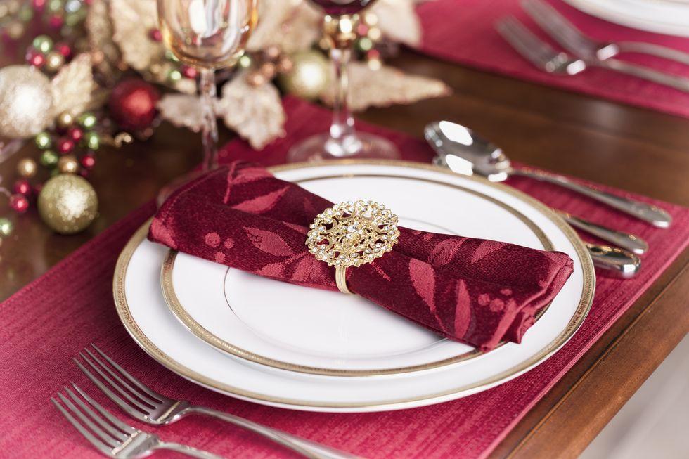 Ronds de serviette festifs