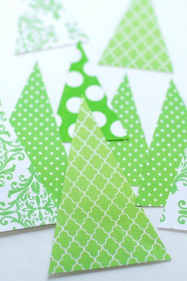 Scrapbook Carte d'arbre en papier
