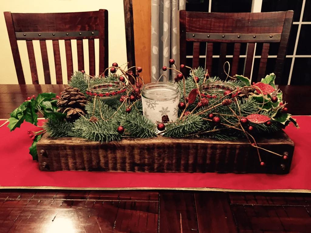Un centre de table simple et festif