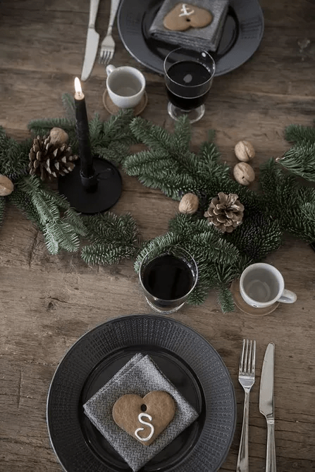 Cadre de Noël romantique