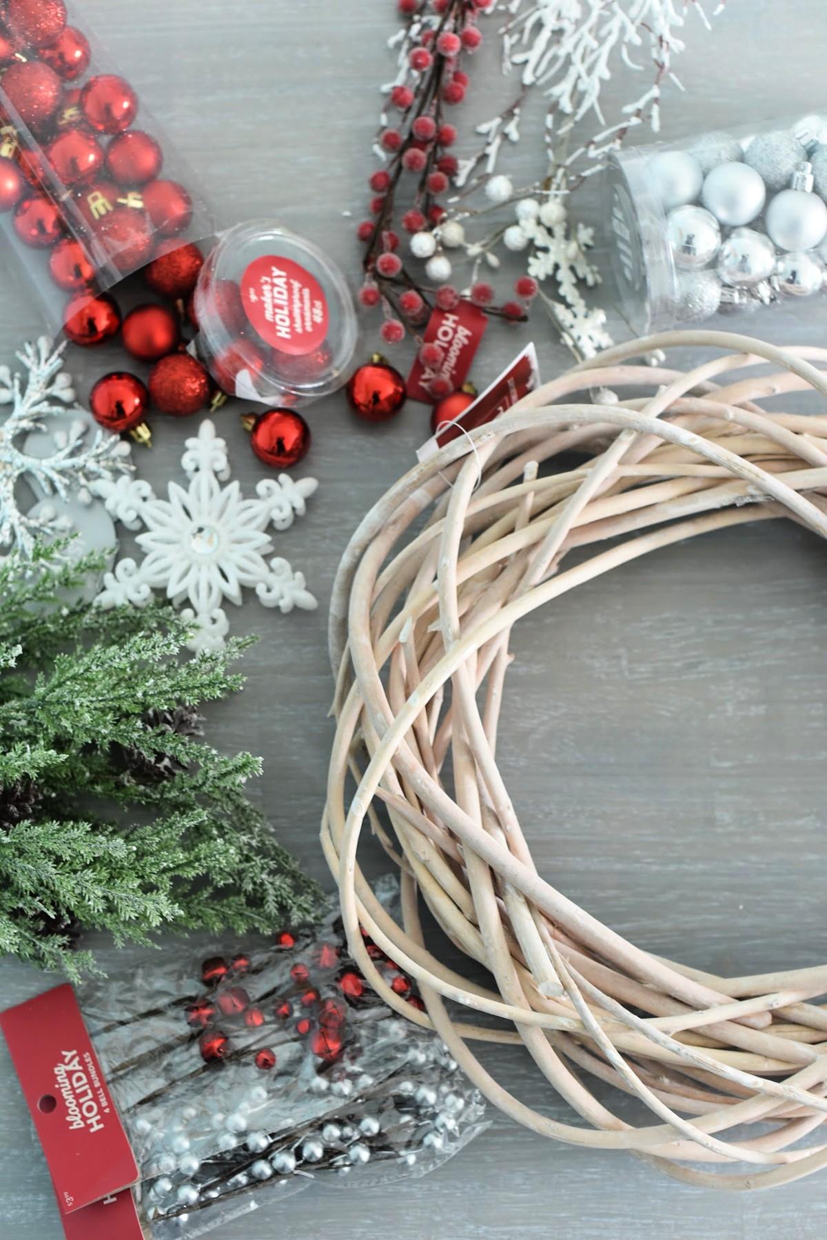 Fournitures pour couronnes de Noël