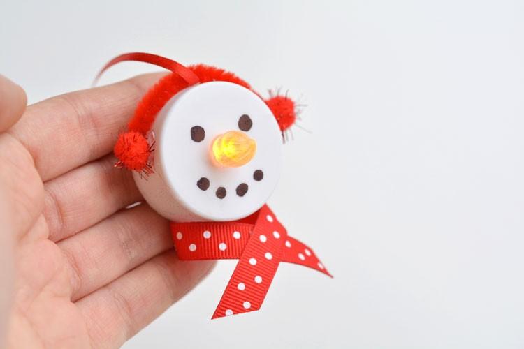 décoration bonhomme de neige pour noël