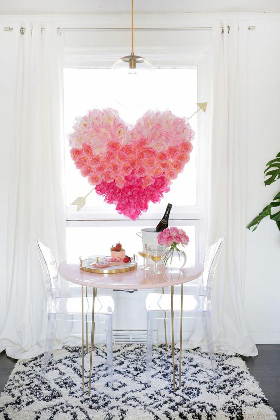 Afficher un cœur fait de roses
