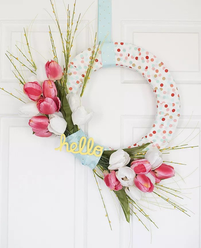 Couronne de printemps DIY