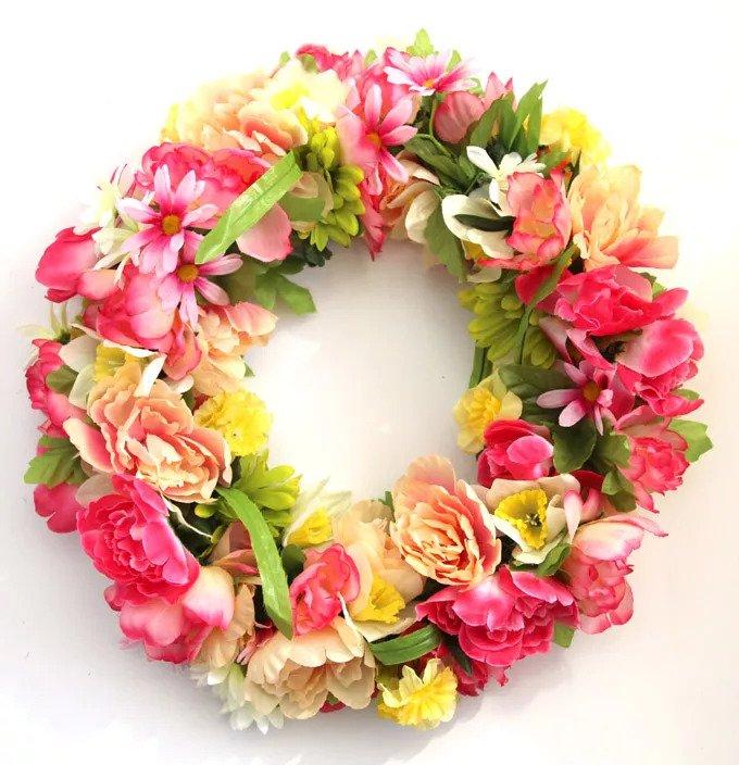 Couronne florale DIY