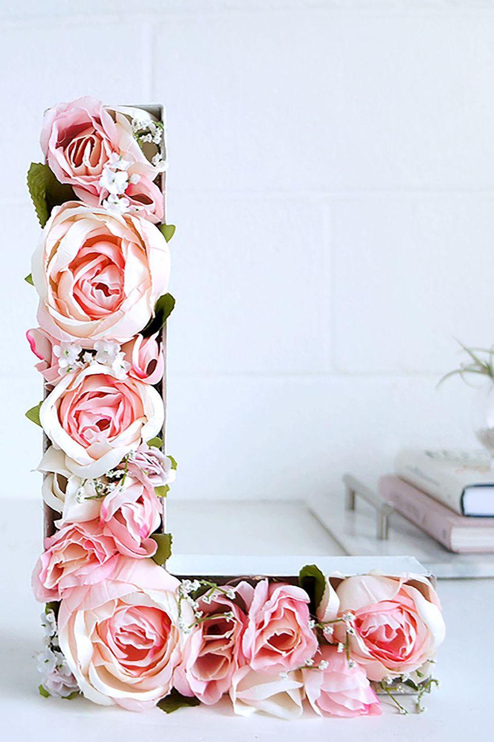 Donnez à votre monogramme le traitement floral