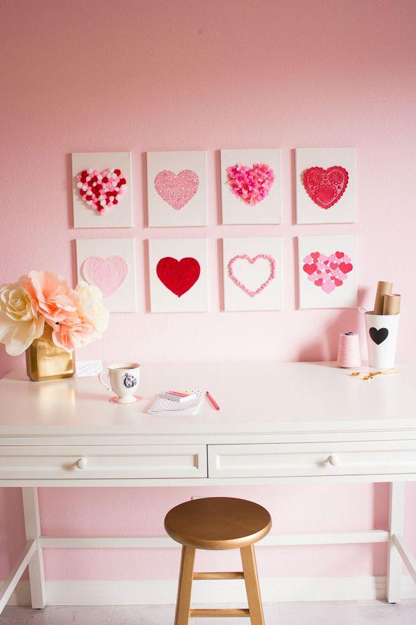 Art du cœur en toile