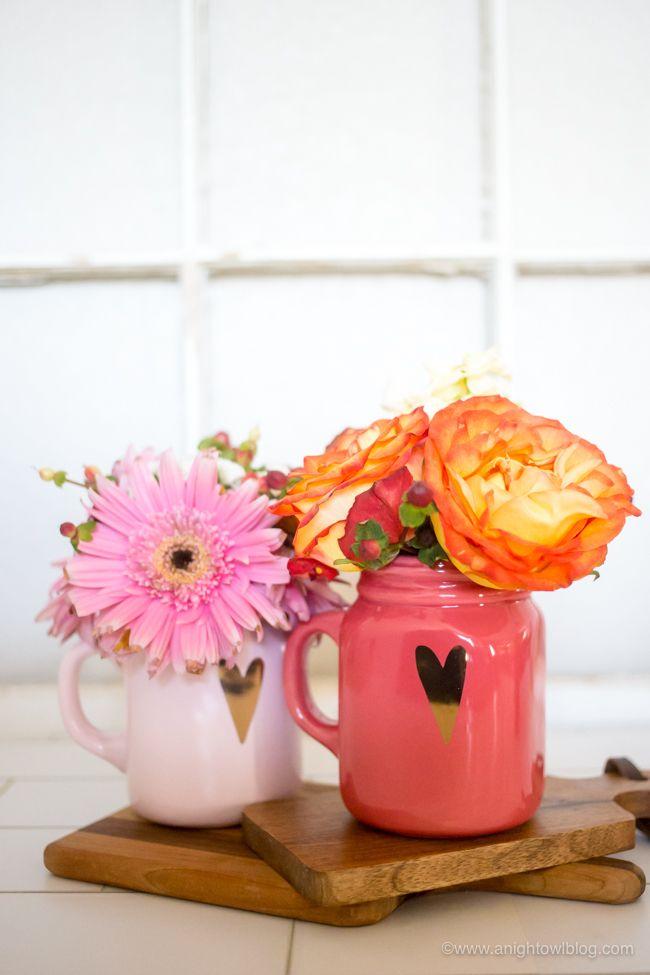 Bouquets de bocaux Mason