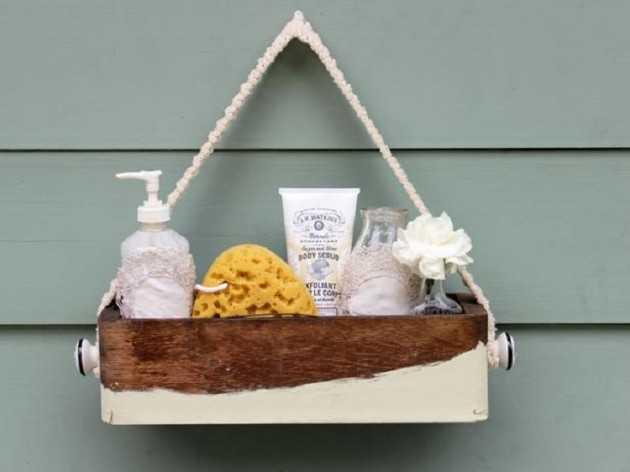 Caddie de bain chic pour les invités