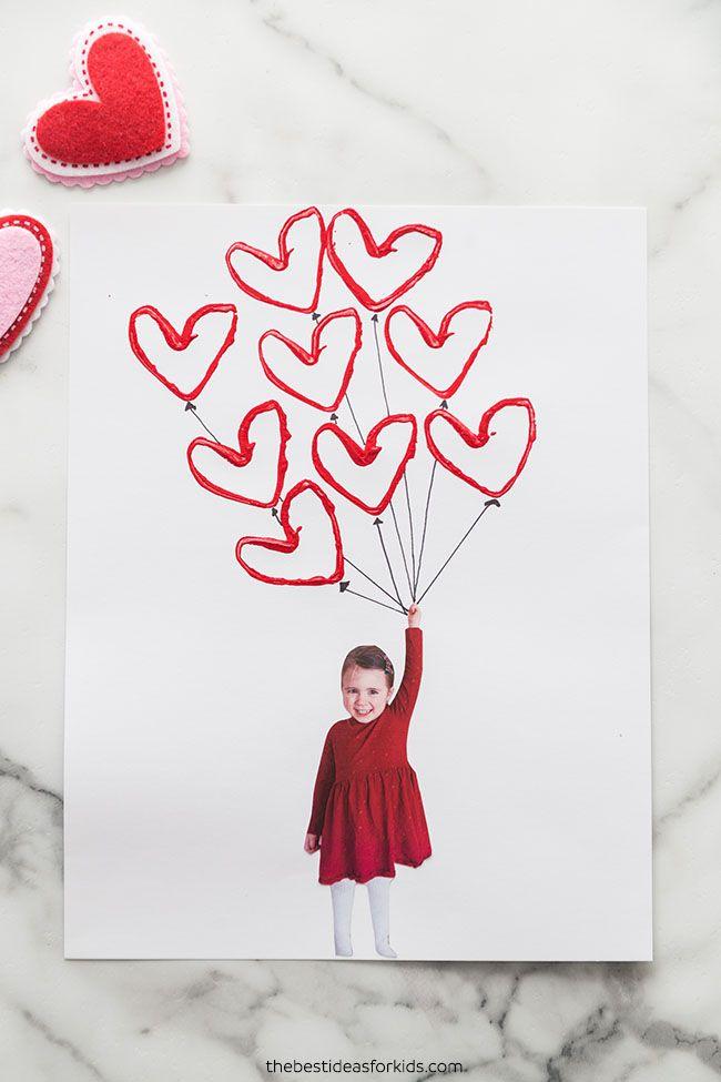 Carte ballon de la Saint-Valentin