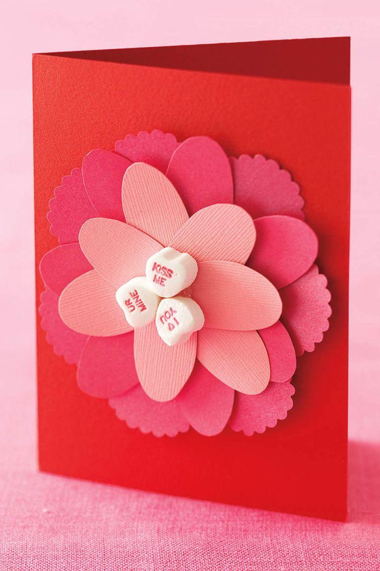Carte fleurie en papier