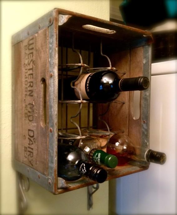 Casier à vin pratique pour les bouteilles de lait millésimées