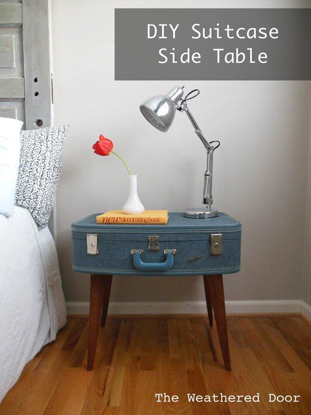 Construire une table de nuit en valise