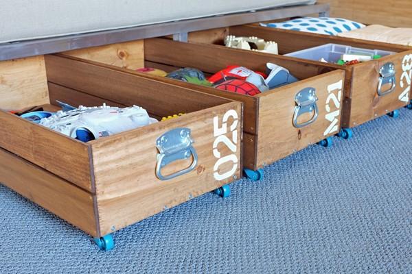 DIY Caisses roulantes de stockage de jouets