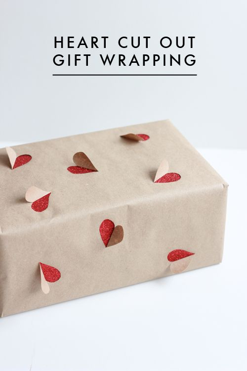 Emballage cadeau secret du cœur