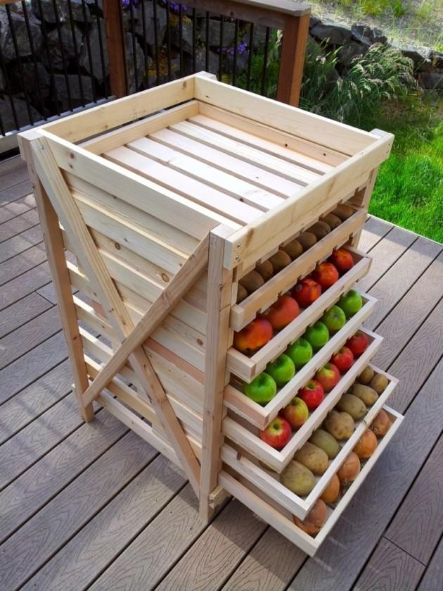 Étagère de stockage des aliments DIY