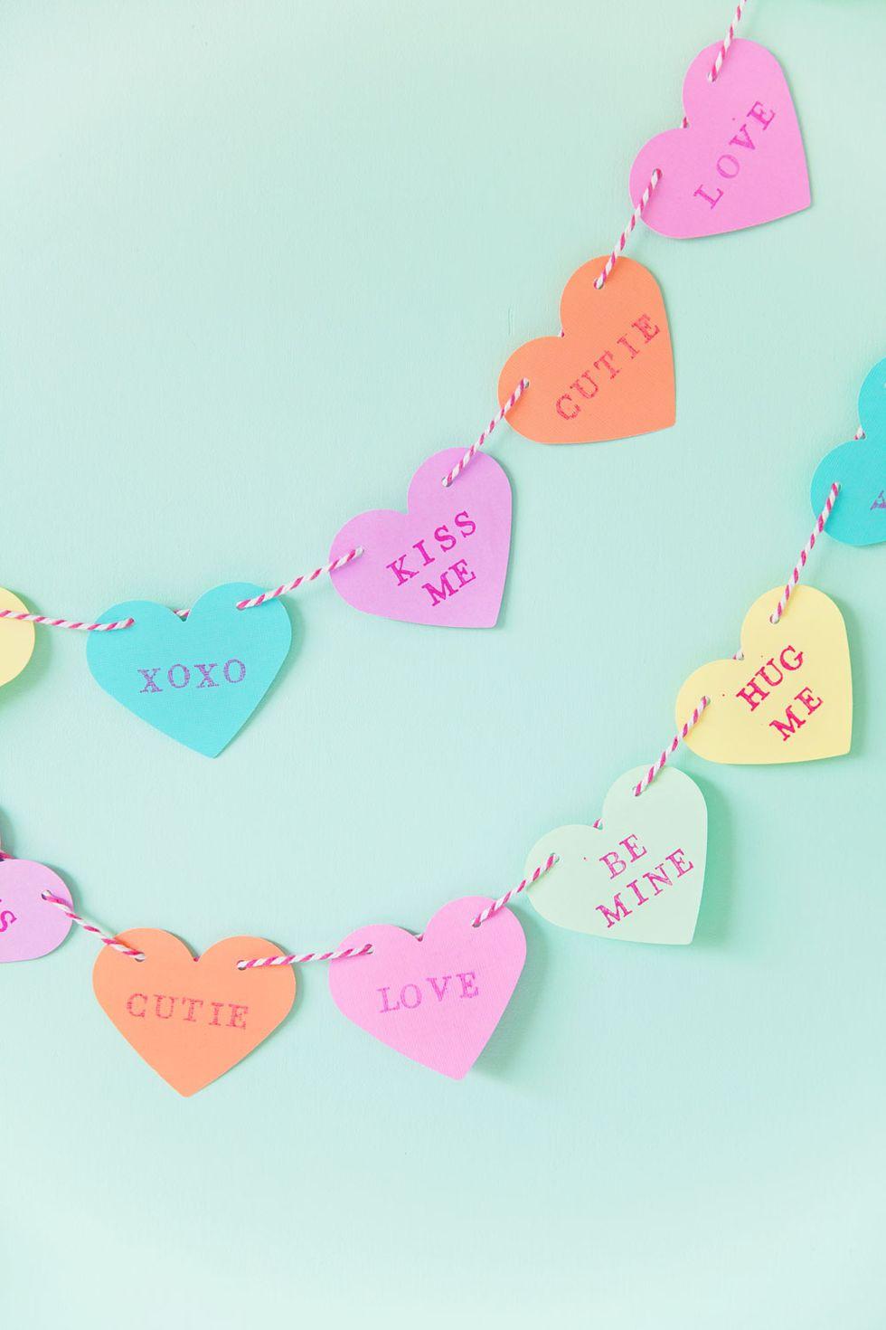Guirlande de bonbons en forme de cœur