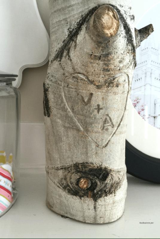 Initiales de la souche de l'arbre