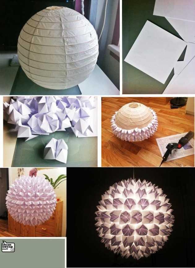 Joli lustre en papier