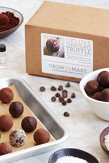Kit de truffes au chocolat fait maison