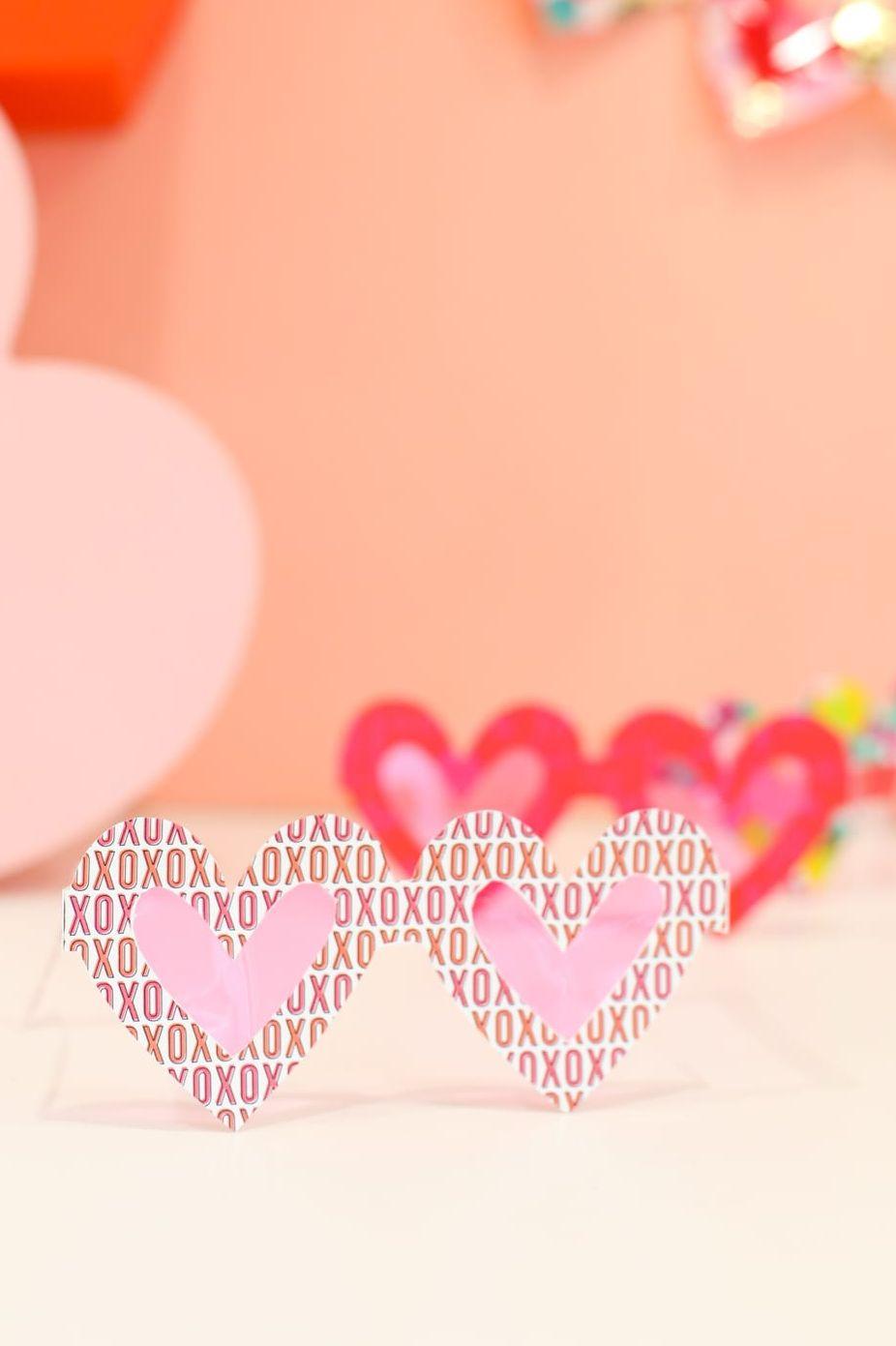 Lunettes de couleur rose